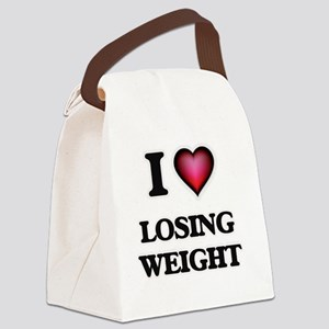 I Love Losing Weight Canvas Lunch Bag