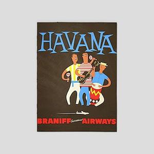 Havana, Cuba, Travel, Vintage Poster 5'x7'
