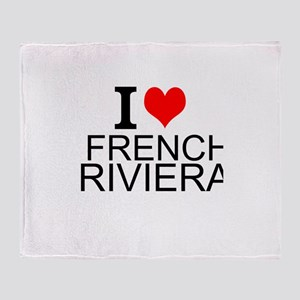 I Love French Riviera Throw Blanket