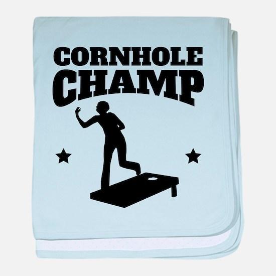 Cornhole Champ baby blanket