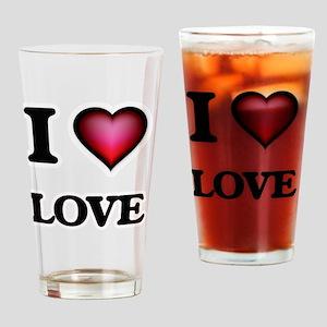 I Love Love Drinking Glass