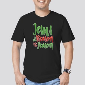 Jesus is the Reason Men's Fitted T-Shirt (dark)
