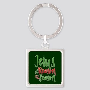 Jesus is the Reason Square Keychain