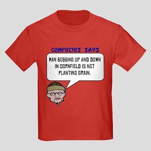 Bobbing in the cornfield Kids Dark T-Shirt
