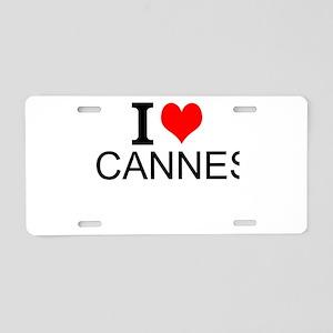 I Love Cannes Aluminum License Plate