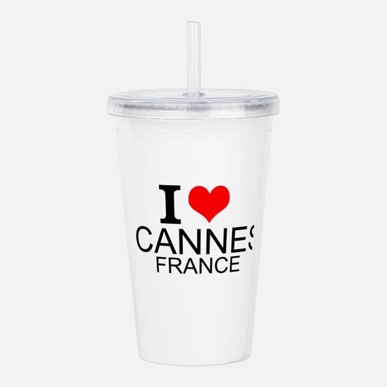 I Love Cannes, France Acrylic Double-wall Tumbler