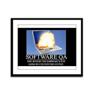 Software QA Framed Panel Print