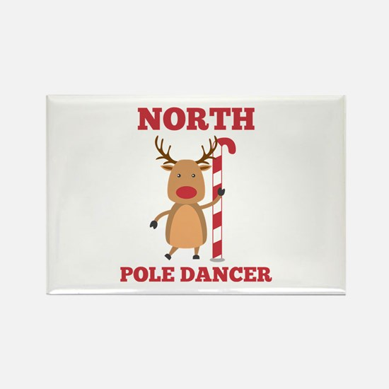 North Pole Dancer Rectangle Magnet