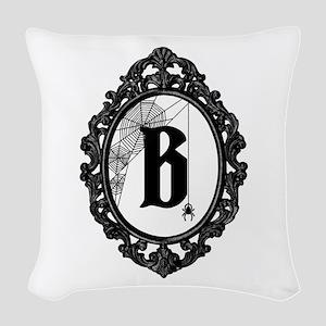 Monogram Gothic Frame Spider Woven Throw Pillow