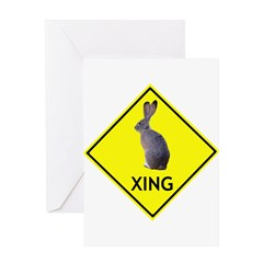 Jackrabbit Crossing Greeting Card