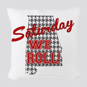 Saturday We Roll Woven Throw Pillow