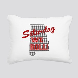 Saturday We Roll Rectangular Canvas Pillow