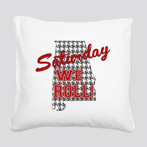 Saturday We Roll Square Canvas Pillow