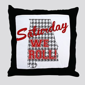 Saturday We Roll Throw Pillow
