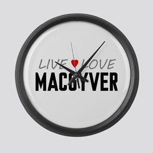 Live Love MacGyver Large Wall Clock