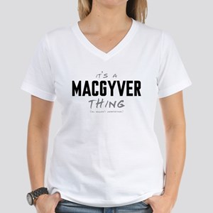It's a MacGyver Thing Women's V-Neck T-Shirt