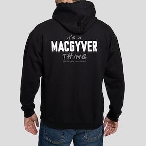 It's a MacGyver Thing Dark Hoodie
