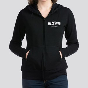 It's a MacGyver Thing Women's Zip Hoodie