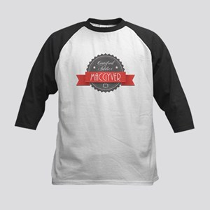 Certified MacGyver Addict Kids Baseball Jersey