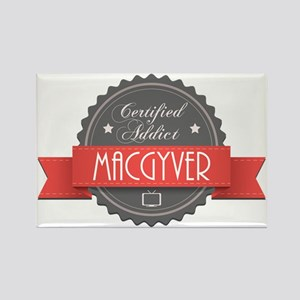 Certified MacGyver Addict Rectangle Magnet