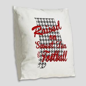 Sweet Tea, football and houndstooth Burlap Throw P