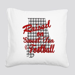 Sweet Tea, football and houndstooth Square Canvas