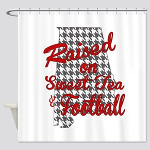 Sweet Tea Football And Houndstooth Shower Curtain