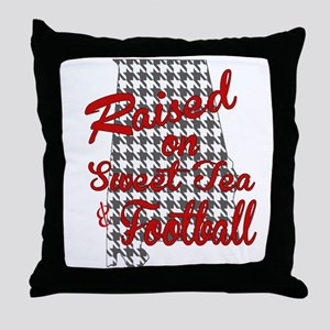 Sweet Tea, football and houndstooth Throw Pillow