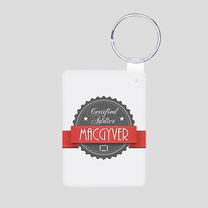 Certified MacGyver Addict Aluminum Photo Keychain