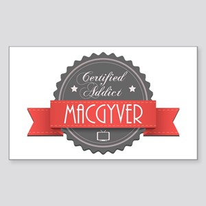 Certified MacGyver Addict Rectangle Sticker