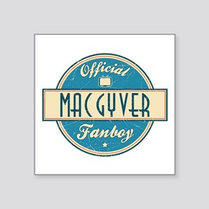 """Official MacGyver Fanboy Square Sticker 3"""" x 3"""""""