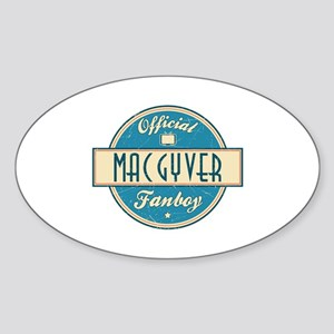 Official MacGyver Fanboy Oval Sticker