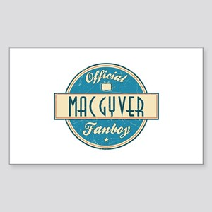 Official MacGyver Fanboy Rectangle Sticker