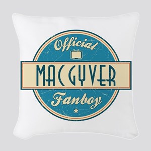Official MacGyver Fanboy Woven Throw Pillow