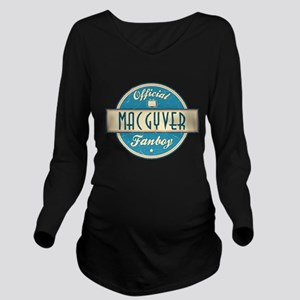 Official MacGyver Fanboy Long Sleeve Maternity T-S
