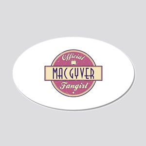 Official MacGyver Fangirl 22x14 Oval Wall Peel