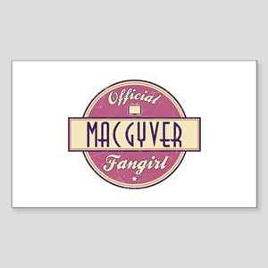 Official MacGyver Fangirl Rectangle Sticker