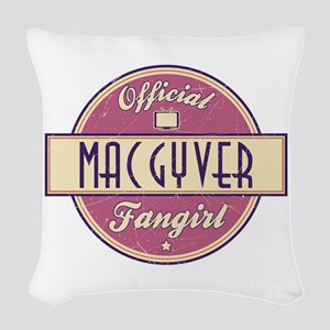Official MacGyver Fangirl Woven Throw Pillow