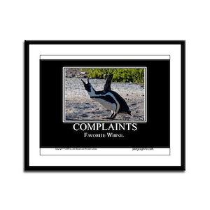 Complaints Framed Panel Print
