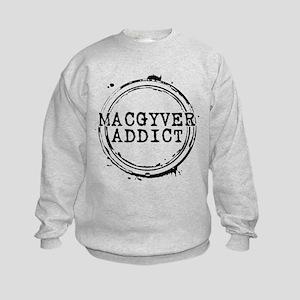 MacGyver Addict Stamp Kids Sweatshirt