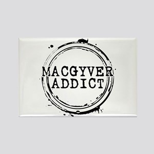 MacGyver Addict Stamp Rectangle Magnet