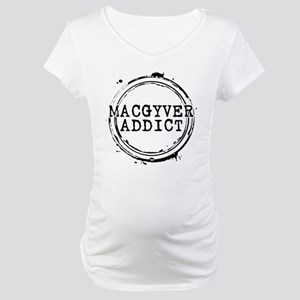 MacGyver Addict Stamp Maternity T-Shirt
