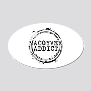 MacGyver Addict Stamp 22x14 Oval Wall Peel