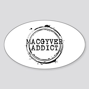 MacGyver Addict Stamp Oval Sticker