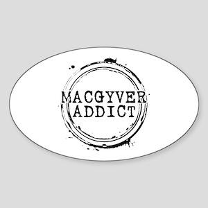 MacGyver Addict Stamp Oval Sticker