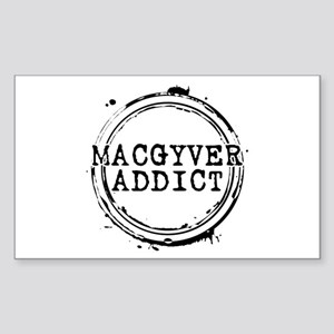 MacGyver Addict Stamp Rectangle Sticker