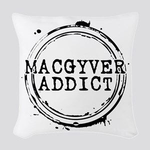 MacGyver Addict Stamp Woven Throw Pillow