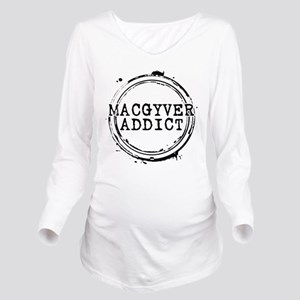 MacGyver Addict Stamp Long Sleeve Maternity T-Shir