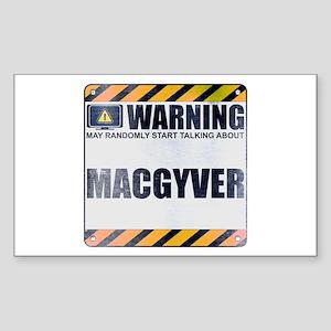 Warning: MacGyver Rectangle Sticker