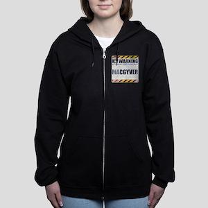 Warning: MacGyver Women's Zip Hoodie